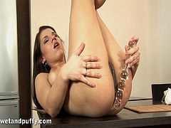 Fantastic Angel Rivas Plays With A Big Toy In A Solo Model Video