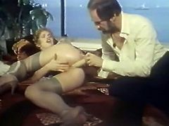 Hungry mature freak pleased dirty asshole of that bitch with huge dildo. Then he took out his staff bonker and got to ass fuck her in doggy and sideways styles. have a look at that dirty anal sex in The Classic Porn sex clip!