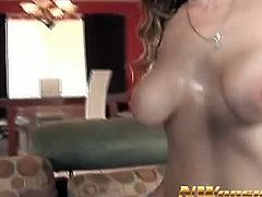 See this sexy and lusty redhead mature milf babe Darien Ross in this hot interracial video.She sucks that huge black cock on the couch before he shoves in her pussy and fucks her hard.