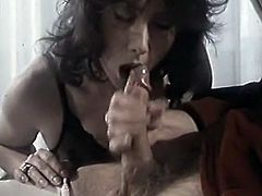 That fuck thirsting guy is a millionaire. Unfortunately he can't move and is always in wheelchair. He used to hire horny sexy hoes to suck his ever hungry penis. Look at that passionate BJ in The Classic Porn sex video!