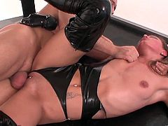 Take a look at the smoking hot Lucy Love as she gets her pussy fingered and fucked by a horny dude. She definitely loves getting all of her holes filled with cock.