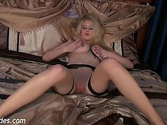 Brookie Little in Stocking Tease