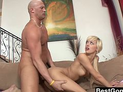 Best Gonzo brings you a hell of a free porn video where you can see how the alluring tattooed blonde Emma Mae slut gets banged very hard and deep into a massively intense orgasm.