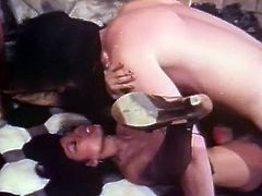 Black haired slender filth in sexy stockings has awesome cowgirl pose fuck with her light skinned BF on floor in the kitchen. Watch that steamy copulation in The Classic Porn sex clip!