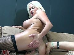Rapacious light haired bitch with huge boobies employed long pink fuck tool to please her thirsting kitty. Take a look at this bonny babe in My XXX Pass porn video!