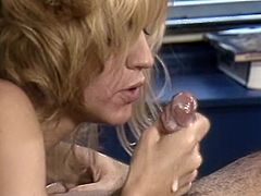 Long and light haired tootsie with tiny titties came to please that feverish mature freak with hot deep throat. Enjoy that torrid cock sucker in The Classic Porn sex clip!