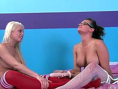 Two best girlfriends Tory Lane and Britney Amber having sex fun