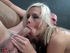 Insatiable light haired whore with big sexy ass needs mouth fuck only. She adores to suck sugary long lollicocks. Take a look at this filthy cock sucker in My XXX Pass sex video!