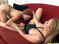 Dylan Daniels and Danira Love are two insatiable girlfriends who love to please each other. Blonde babe dives in pussy and gives good tongue job.