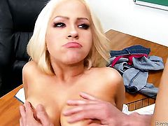 Cami Cole is in heaven eating Peter Norths hard love wand