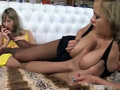 Lovely lesbians Florence and Jenny always has a thing to sexy feet. Watch this two licking and sucking it like no other and using it to fondle their wet clit.