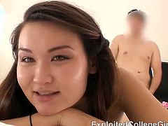 This video shows Toki, an Asian college girl, how she takes cock in her ass hole for the very first time. This guy cums very hard afterwards, covering her face with spunk.