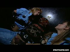 Kinky bitches with filthy sex fantasies fuck dirty in BDSM porn clip. Saucy bitches put a mask on his face and also lock him to a special BDSM chair. They sucked his brains out.