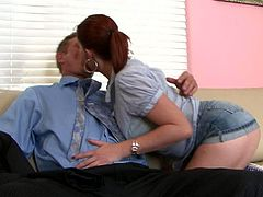 If your secretary wants to fuck you better hope she's as cool as Sara Stone. This office whore is the full package. She has a lovely pair of huge tits and a big round butt. Cock crazed hottie gives her horny boss the best blowjob of his life.