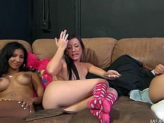 Two sextractive lesbians are ready for dirty rough fuck right here and right now. They are smoking and flirting with each other.