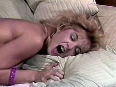 At first dude sucks her nipples and then throws her legs over head to thrusts his cock deep in her muff. Horny dude gives her good tongue job.