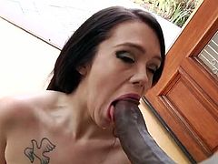 Kinky and attractive dark haired babe with awesome body gives a great blowjob to her buddy. Have a look at this chick in My XXX Pass sex clip.