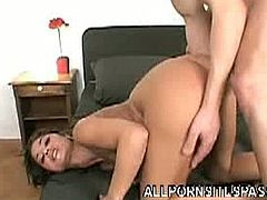 Tera Joy does ass to mouth after the first time when she gets ass drilled doggy style. Next, this dude puts his cock back in her ass hole to fuck her some more.