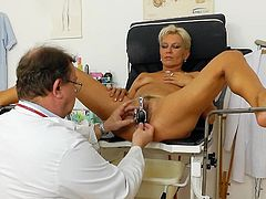 Full gyno examination for lusty mature