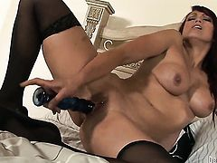 Nicki Hunter gets the hole between her legs drilled by mans stiff fuck stick