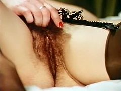 Voracious hooker in sexy stockings enjoyed getting her incredibly hairy pussy invaded in reverse cowgirl pose by hard penis of her fuck partner. Enjoy that dirty sex in The Classic Porn sex clip!