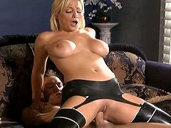 Checkout this amazing sexy blonde milf with nice racks and a sexy round ass. Today she is going to suck and fuck a big long hard cock. Watch her getting drilled hard in her pussy. Enjoy!