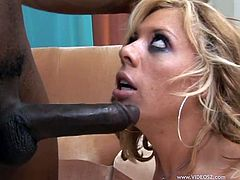 Submissive blondie sucks BBC and gets her poontang doggyfucked. Then she gets buttfucked riding that dick in a reverse cowgirl pose and dude plows her anus mish until cumming on her face.