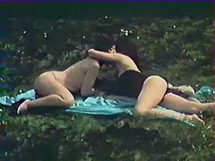 Lusty brunette lesbians with slender figures have dirty sex on fresh air in flying 69 position. Have a look at that steamy lesbo fuck in The Classic Porn sex clip!