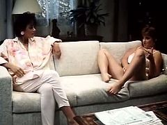 Classic Porn Scenes brings you a hell of a free porn video where you can see how these vintage brunette lesbians munch their cunts while assuming very hot poses.