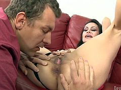 Burning hot mommy spreads her legs apart while lucky guy digs her asshole and pussy with his tongue. Babe gives frantic blowjob and rides that prick like a cowgirl.