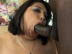fat and big dark haired bitch with huge ass gives a great blowjob to the black guy. Have a look at this slut in All Porn Sites Pass sex video.