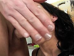 Mark Wood has a great time banging Glamorous harlot Phoenix Marie in the backdoor before suck job