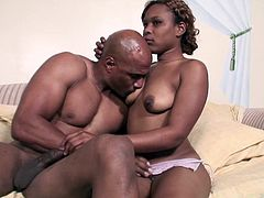 The sexy ebony Rane Revere enjoys getting her hot wet pussy drilled by a huge black cock and ends up getting her tits covered with cum.