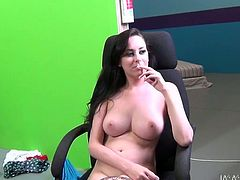 Juggy brunette Heather gets her pussy fucked hard doggy style. Her big jaw dropping boobs will drive you crazy. Just enjoy watching brunette chick for free.