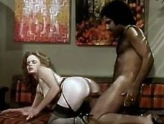 Sex appeal classic brunette gets her punani drilled hard from behind. Dude pokes her muff and her saggy big boobs bounce. This steamy retro video deserves your attention.