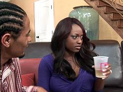The gorgeous ebony Jada Fire and Kylie Ireland get their yummy pussies rammed hard by each other's husbands in this nasty swinger foursome.