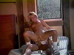 This light haired whorish cutie with small titties got her moist pussy eaten ardently. Then she got banged in reverse cowgirl position tough..Take a look at that steamy sex in the Classic Porn sex clip!
