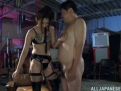 Sexy Asian babe wants to show this horny guy what it feels like to take a hard cock up your ass and goes for some nasty pegging with a big strapon.