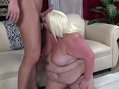 What are you waiting for? Watch this blonde BBW, with a huge butt and gigantic nipples, while she gets badly screwed and moans stridently.