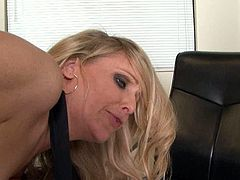 This sex-starved student knows how to make his teacher happy. He bends her over the desk and fucks her really hard from behind. When she feels his penis is about to go limp she spices things up with a blowjob.