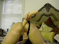 Hot Blonde With Big Tits Toys Her Pussy And Butthole