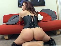 Bootyful whore Katja Kassin rides her lover's dick like a true cowgirl