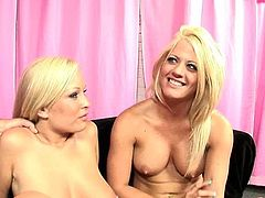 Bodacious chicks Jessica Moore and Holly Heart take part in a threesome