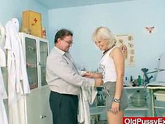 Sexy cougar Samantha White gets her hot wet pussy and her yummy butthole fingered by her horny doctor in a very nasty exam.