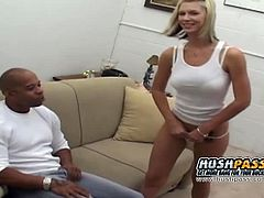 My Daughters Fucking A Black Dude brings you a hell of a free porn video where you can see how the naughty blonde Brooke Banner rides a big rod of black meat into heaven.