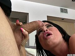 Gorgeous MILF Nikki Delano gobbles a huge thick cock and has the time of her life as she takes that monster up her filthy asshole.