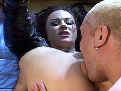 Hot babe loves cock fucking with a whip and her leather boots in this hot sex video.
