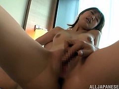 Have a look at this hardcore scene where the horny Japanese babe Aozora Yamakaw ends up with her mouth filled by semen after being fucked by guy.