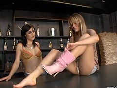 Gorgeous lesbian babes Holly Wellin and Beverly Hills lick each other's delicious buttholes and pussies in the sexiest 69.