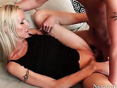 Sonny Hicks makes his rock solid love torpedo disappear in magically sexy Emma Starrs honeypot